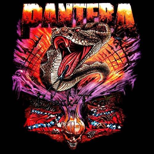 PANTERA BLACK HEAVY METAL TEE T SHIRT SIZE XL / D79