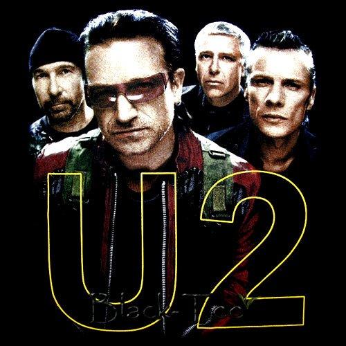 U2 BLACK ROCK TEE BONO T SHIRT BAND SIZE M / D89
