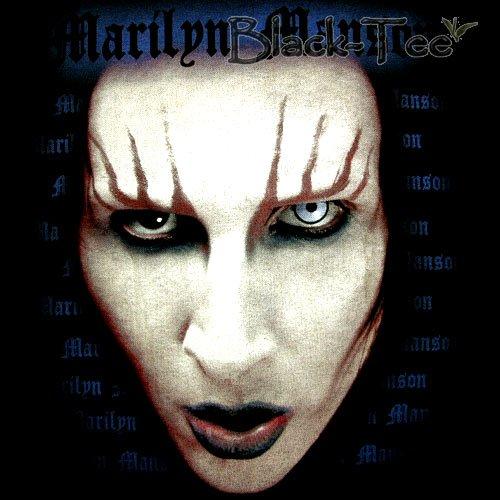 MARILYN MANSON FACE SHOCK ROCK T SHIRT SIZE XL / E99