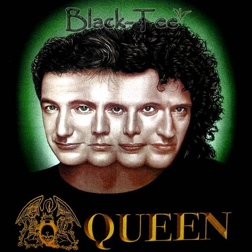 QUEEN HEAD HARD ROCK BLACK TEE T SHIRT SIZE XL / F14