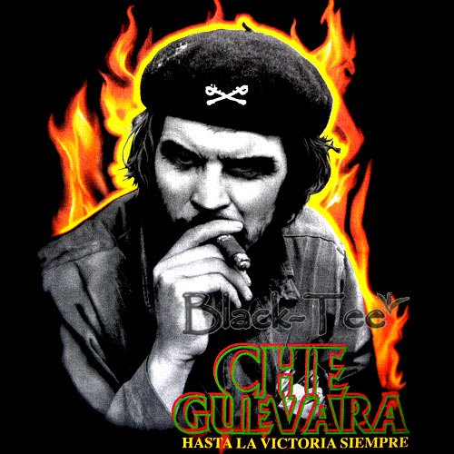 CHE GUEVARA BLACK TEE T SHIRT SMOKE SIZE M / F19