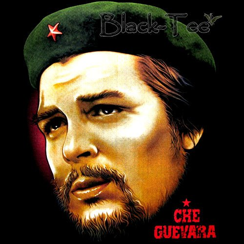 CHE GUEVARA FACE BLACK TEE T SHIRT SIZE S / F20