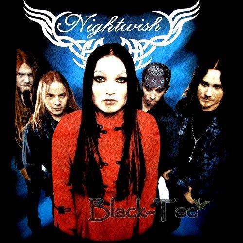 NIGHTWISH BLACK POWER METAL TEE T SHIRT SIZE L / F24
