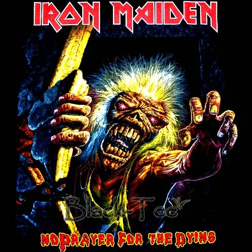 IRON MAIDEN HEAVY METAL TEE T SHIRT BLACK SIZE M / F32