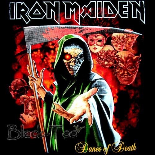 IRON MAIDEN METAL T SHIRT DANCE OF DEATH SIZE S / F33