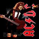 AC/DC BLACK HARD ROCK TEE T SHIRT CONCERT SIZE XL / F37