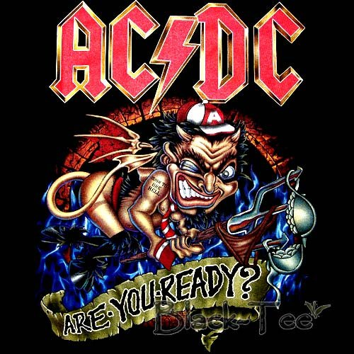 AC/DC ROCK TEE T SHIRT ARE YOU READY? SIZE XL / F38