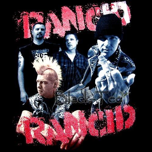 RANCID BLACK PUNK ROCK TEE T SHIRT BAND SIZE L / F46