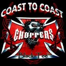 COAST TO COAST CHOPPERS T SHIRT BLACK TEE SIZE S / F22