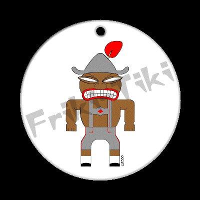 FRIKI-TIKI   Deutch-Tiki   Porcelain Christmas Ornament - NEW Collectible