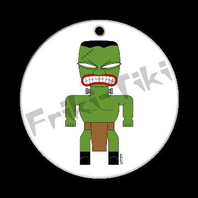 FRIKI-TIKI   Frank-n-Tiki   Porcelain Christmas Ornament - NEW Collectible
