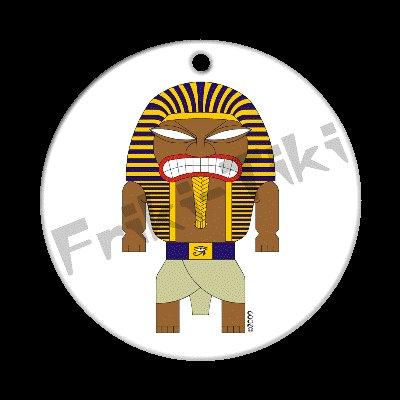 FRIKI-TIKI   Pharaoh-Tiki   Porcelain Christmas Ornament - NEW Collectible