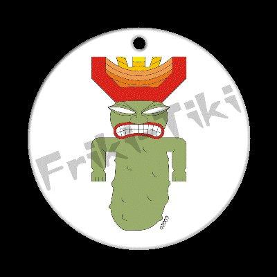 FRIKI-TIKI   Pickle-Tiki   Porcelain Christmas Ornament - NEW Collectible
