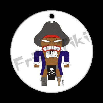 FRIKI-TIKI   Pirate-Tiki   Porcelain Christmas Ornament - NEW Collectible