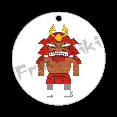 FRIKI-TIKI   Samurai-Tiki   Porcelain Christmas Ornament - NEW Collectible