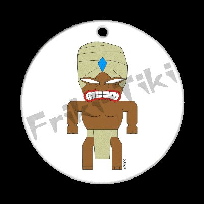 FRIKI-TIKI   Turbin-Tiki   Porcelain Christmas Ornament - NEW Collectible