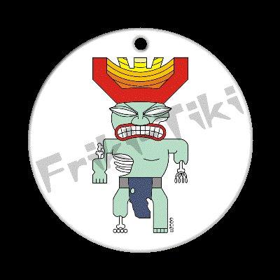 FRIKI-TIKI   Zombie-Tiki   Porcelain Christmas Ornament - NEW Collectible