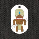 "FRIKI-TIKI   Turban-Tiki   Dog Tag w/ 30"" Ball Chain - NEW"