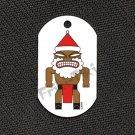 """FRIKI-TIKI   Santa-Tiki   Dog Tag w/ 30"""" Ball Chain - NEW"""