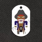 """FRIKI-TIKI   Pirate-Tiki   Dog Tag w/ 30"""" Ball Chain - NEW"""