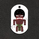 "FRIKI-TIKI   Afro-Tiki   Dog Tag w/ 30"" Ball Chain - NEW"