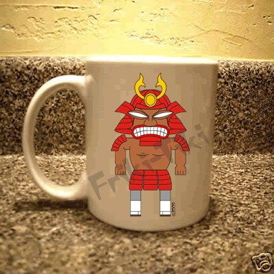 FRIKI-TIKI   Samurai-Tiki   11oz Ceramic Coffee Mug - NEW Collectible