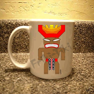 FRIKI-TIKI   Joe-Tiki   11oz Ceramic Coffee Mug - NEW Collectible