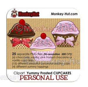 Cupcake Clip Art - PERSONAL USE