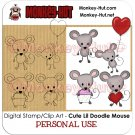 Clip Art / Digital Stamp Mouse Doodle CUTE - Personal Use