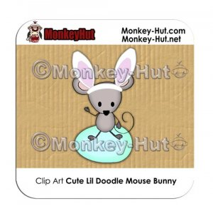 Clip Art Mouse Doodle Bunny PERSONAL/COMMERCIAL USE