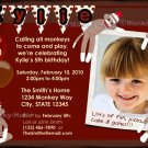 Sock Monkey sockmonkey Birthday Invitation (DIGITAL)