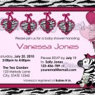 Funky Zebra Baby Shower Invitation pink/hot pink/black (DIGITAL)