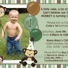 Monkey Birthday Invitation - Digital