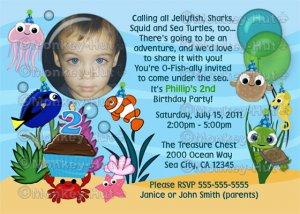 Ocean Under The Sea Birthday Party Invitation (DIGITAL)