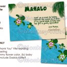 PERSONALIZED Baby Shower Honu (Baby Turtle) Thank You card FLAT 4x6 format (DIGITAL FILE)