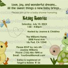 In The Pond Baby Shower Invitation duck frog (DIGITAL)