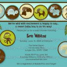 Safari Animals Baby Shower Invitation DDS (DIGITAL)