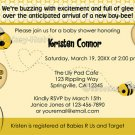 "BEE Baby Shower Invitation - Cute as can ""bee"" (DIGITAL)"