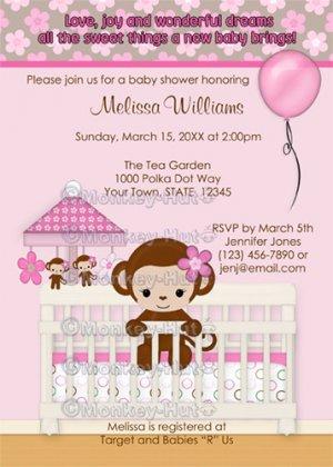 Monkey baby shower invitation sm k pink digital on photo cheap free printable monkey girl baby shower invitations monkey baby shower invitation sm k pink digital on filmwisefo
