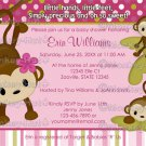MONKEY Baby Shower Invitation 3 Little Monkeys 3LMP (DIGITAL)