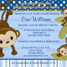 MONKEY Baby Shower Invitation 3 Little Monkeys 3LMB (DIGITAL)