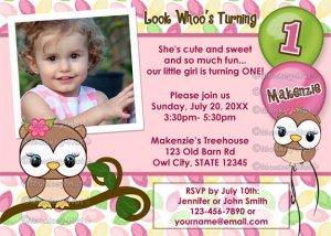 Look Whoo's Turning OWL birthday invitation (photo) DIGITAL