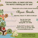 Laguna TURTLE Baby Shower Invitation Frog LTC (DIGITAL)
