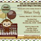 MONKEY Baby Shower invitation Mod Pod Pop Crib MPP2-01 (DIGITAL)