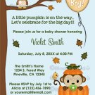MONKEY Baby Shower Invitation Fall Pumpkin BOY (DIGITAL)