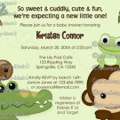 Papagayo Baby Shower Invitation monkey frog turtle crocodile (DIGITAL)