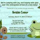 Hippity FROG Baby Shower invitation turtle snail boy girl neutral HFK (DIGITAL)