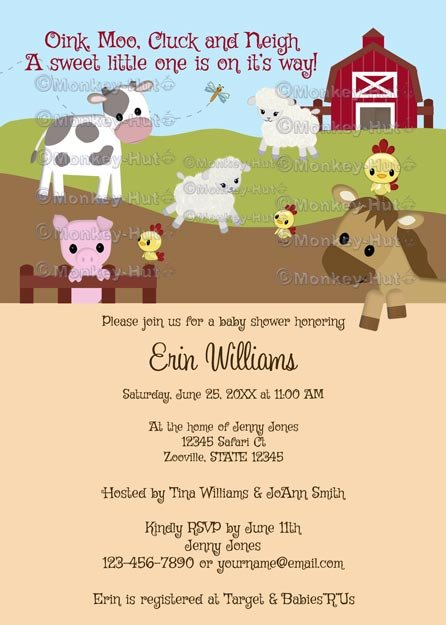 Animal Acres Farm Animal Baby Shower NEUTRAL AAK (DIGITAL)