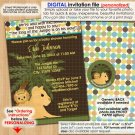 Lion King of the Jungle Baby Shower Invitations Boys Personalized DIGITAL INVITATION #035