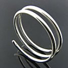 Double Coil Sterling Silver Bracelet